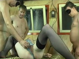 Foursome Fuck With Kinky Girl In Stockings