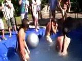 Blindfolded pool games