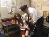 Policeman Abuse Teen Japanese Girl in his Office