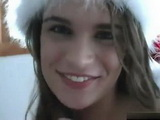 Cute Teen Wishing You A Merry Christmas With Good Amateur Masturbation