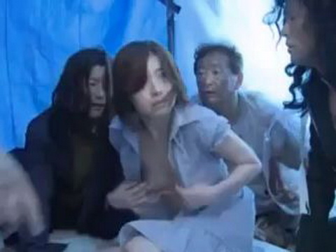 Japanese Wife Roughly Fucked By Group Of Homeless